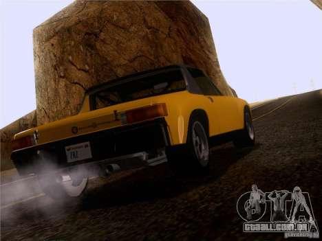 Porsche 914-6 para GTA San Andreas vista traseira