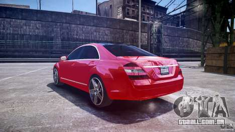 Mercedes Benz w221 s500 v1.0 cls amg wheels para GTA 4 traseira esquerda vista