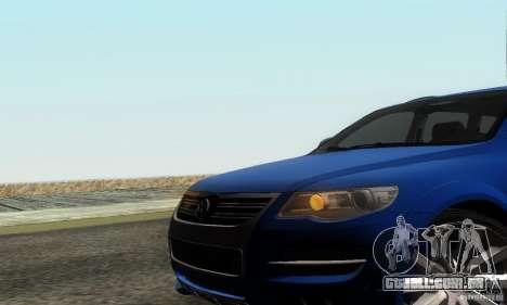 VolksWagen Touareg R50 JE Design Tuning para GTA San Andreas vista traseira