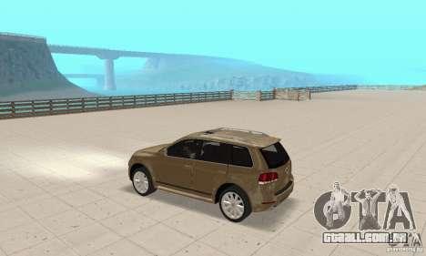Volkswagen Touareg 2008 para GTA San Andreas vista traseira