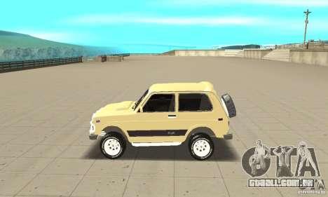 VAZ 21213 4 x 4 para GTA San Andreas esquerda vista