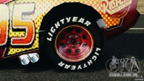 Lightning McQueen para GTA 4 vista de volta