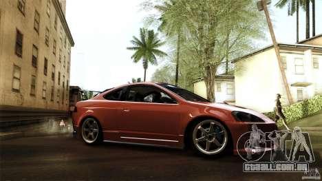 Acura RSX Spoon Sports para GTA San Andreas traseira esquerda vista