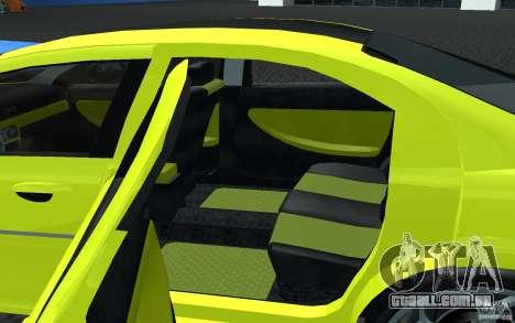 Volga Siber 2.5 AT Restailing para GTA San Andreas traseira esquerda vista