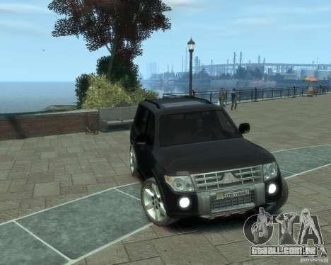 Mitsubishi Pajero para GTA 4 traseira esquerda vista