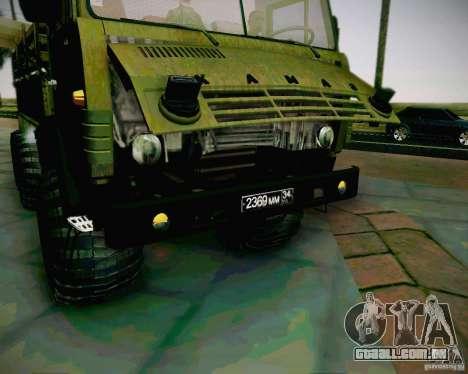 KAMAZ 4310 exército para GTA San Andreas vista direita