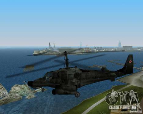 Ka-50 para GTA Vice City vista direita