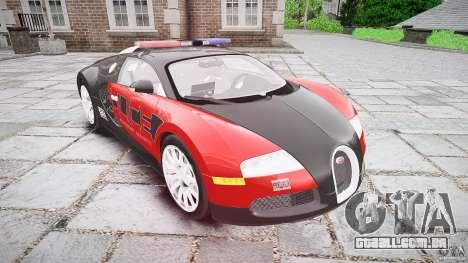 Bugatti Veyron 16.4 Police [EPM/ELS] para GTA 4 vista de volta