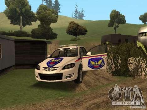 Mazda 3 Police para vista lateral GTA San Andreas