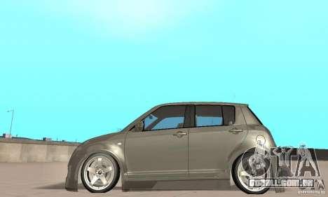 Suzuki Swift Tuning para GTA San Andreas traseira esquerda vista