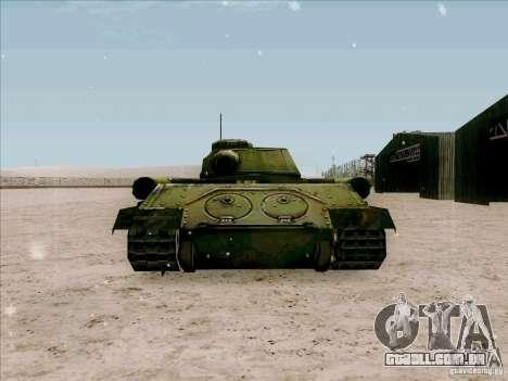 T-34 para GTA San Andreas traseira esquerda vista
