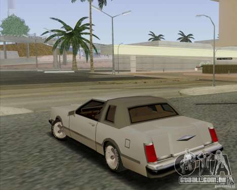 Virgo Continental para GTA San Andreas esquerda vista