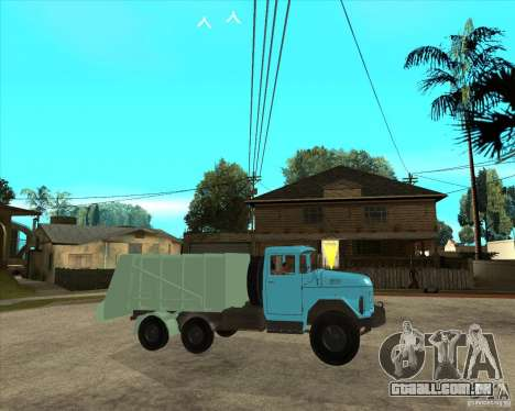 Caminhão de lixo ZIL-131 para GTA San Andreas vista direita