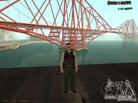 Sheriff Departament Skins Pack para GTA San Andreas terceira tela