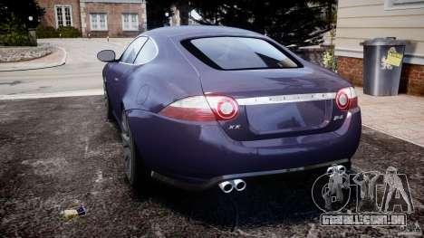 Jaguar XKR-S para GTA 4 traseira esquerda vista