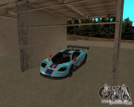 McLaren F1 para GTA San Andreas vista interior