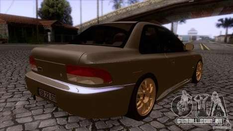 Subaru Impreza 22 para GTA San Andreas vista direita