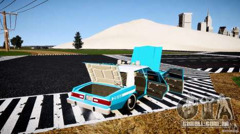 Dodge Diplomat 1983 Police v1.0 para GTA 4 vista superior