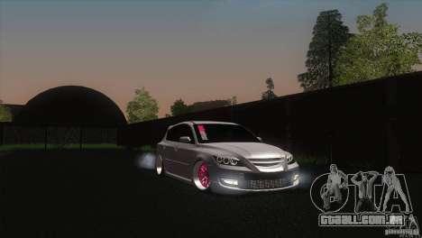 Mazda MazdaSpeed 3 para GTA San Andreas vista direita
