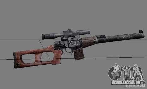 Um conjunto de armas de um stalker para GTA San Andreas nono tela