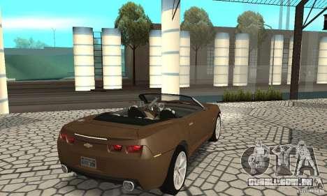 Chevrolet Camaro Concept 2007 para GTA San Andreas traseira esquerda vista
