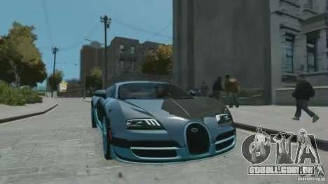 Bugatti Veyron 16.4 Super Sport para GTA 4 vista direita