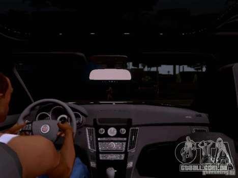 Cadillac CTS-V 2009 para GTA San Andreas vista superior