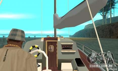 Marquis Segelyacht 09 Textures para GTA San Andreas vista traseira