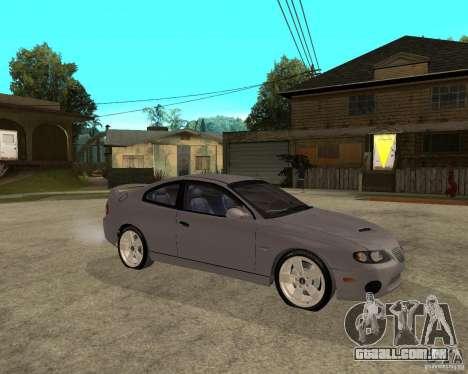 2005 Pontiac GTO para GTA San Andreas vista direita
