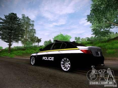BMW M5 E60 Police para GTA San Andreas esquerda vista