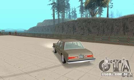 Dodge Diplomat 1985 v2.0 para GTA San Andreas esquerda vista