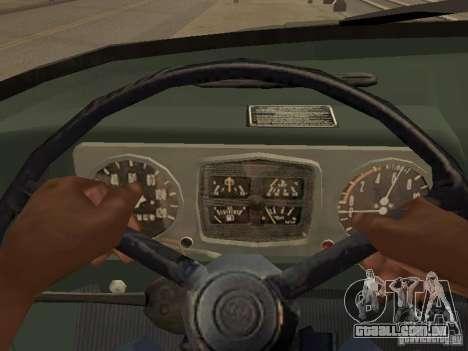 ZIL 131 caminhão para GTA San Andreas vista interior