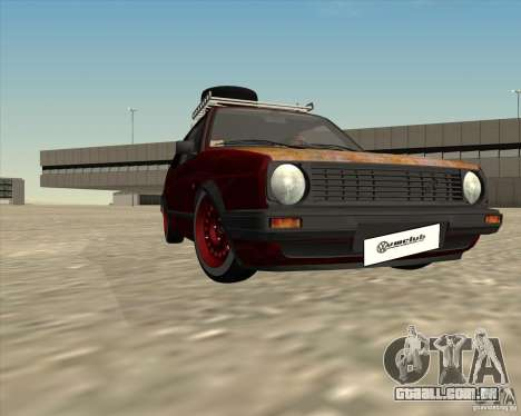 VW Golf II Shadow Crew para GTA San Andreas vista superior