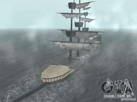 Navio pirata para GTA San Andreas sexta tela