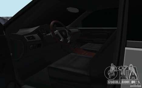 Cadillac Escalade 2008 Limo para GTA San Andreas vista interior