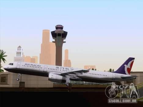 Airbus A321 Air Macau para vista lateral GTA San Andreas