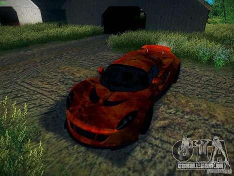 Hennessey Venom GT Spyder para GTA San Andreas vista inferior