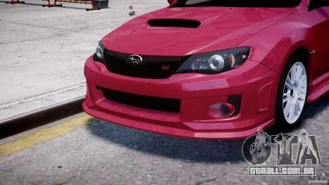 Subaru Impreza WRX STi 2011 para GTA 4