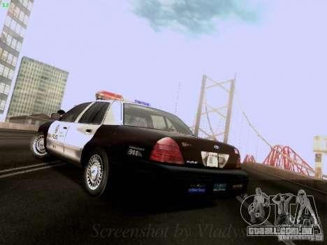 Ford Crown Victoria Los Angeles Police para GTA San Andreas traseira esquerda vista