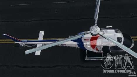 Eurocopter AS350 Ecureuil (Squirrel) Malaysia para GTA 4 vista de volta