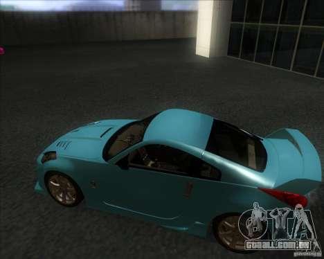 Nissan 350Z 2004 para GTA San Andreas traseira esquerda vista