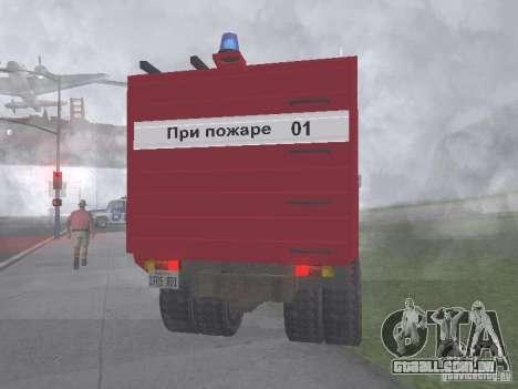 GAZ 3309 fogo para GTA San Andreas traseira esquerda vista