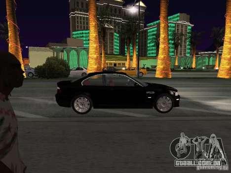 BMW M3 GT-R Stock para GTA San Andreas vista traseira