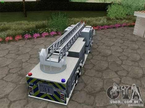 Pierce Puc Aerials. Bone County Fire & Ladder 79 para GTA San Andreas vista interior