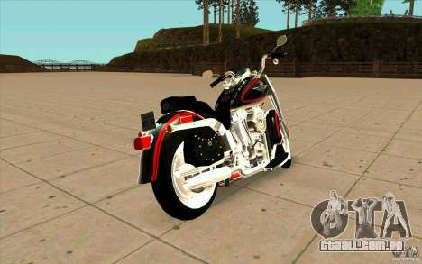 Harley Davidson FatBoy (Terminator 2) para GTA San Andreas traseira esquerda vista