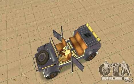 Kuebelwagen v2.0 normal para GTA San Andreas vista direita