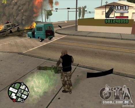 Minigun de Call of Duty Black Ops para GTA San Andreas segunda tela