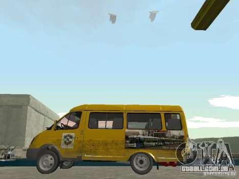 Táxi de gazela para GTA San Andreas esquerda vista