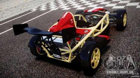 Ariel Atom 3 V8 2012 Custom Mugen para GTA 4 traseira esquerda vista