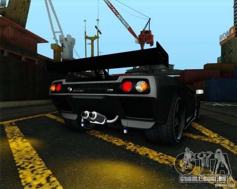 Lamborghini Diablo GTR V1.0 1999 para GTA San Andreas vista direita